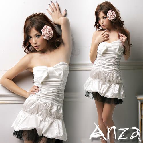 【AnZa】大蝴蝶結蕾絲擺蛋糕裙洋裝