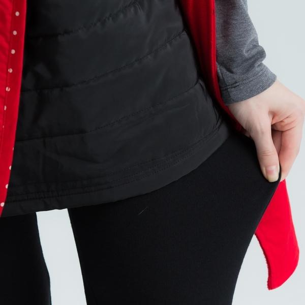 【中大尺碼】條織帶風衣裙褲