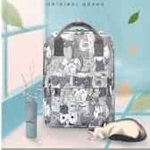 後背包男女韓版百搭書包旅行包大容量背包【聚可愛】