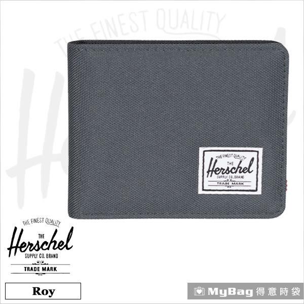 Herschel 皮夾 / 短夾  Roy-930  黑灰色  經典內斂多卡短夾 MyBag得意時袋