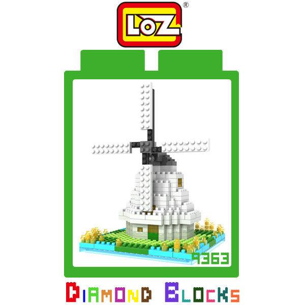 【愛瘋潮】LOZ 迷你鑽石小積木 9363 荷蘭風車 建築系列 益智玩具 趣味 腦力激盪 正版積木