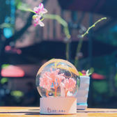 七夕情人節 櫻花錶白水晶球 送男生女生情侶浪漫生日禮物