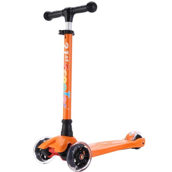 21st scooter米多滑板車兒童滑板車2歲3歲6-12歲小孩踏板車閃光輪