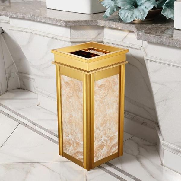 垃圾桶 不銹鋼垃圾桶酒店大堂立式高檔家用商場電梯口戶外灰桶大號商用【八折搶購】