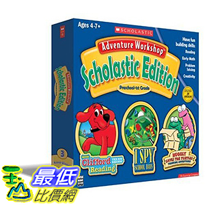 [106美國暢銷兒童軟體] Adventure Workshop Scholastic Edition With Clifford Bonus