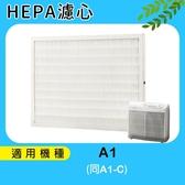 送加強型活性碳濾網4片適用Opure臻淨高效抗敏HEPA空氣清淨機A1/小阿肥機 HEPA濾網 同A1-C