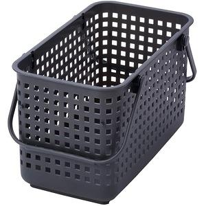 日本 Like-it [窄款]可堆疊收納籃 洗衣籃 M(單個)-灰色