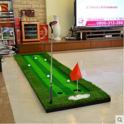 新款POLO 高爾夫推桿練習器 室內果嶺練習毯球道套裝
