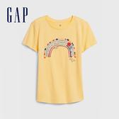 Gap 女童 創意亮片裝飾短袖T恤 577839-哈瓦那黃