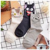 Catworld  正韓空運*笑嘻嘻卡通人物棉質長襪【18900327】‧F*特價