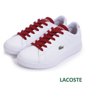 LACOSTE 女用休閒鞋-白/紅 963