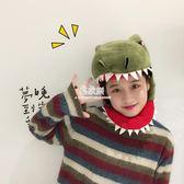 日繫卡通毛絨原宿拍攝道具帽子少女可愛賣萌搞怪鯊魚恐龍頭套帽子  易家樂