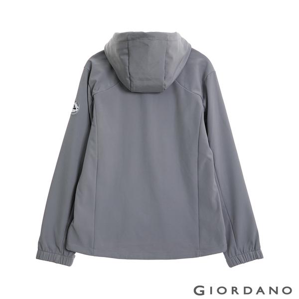 【GIORDANO】男裝Softshell 三合一高機能刺繡徽章連帽外套-01 銀灰