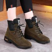 秋冬季新款馬丁靴英倫雪地靴韓版短靴加絨棉鞋網紅靴子學生女鞋子   晴光小語
