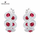 以連結的圓形圖案搭配紅色及透明密鑲品牌水晶及鍍白金色金屬,彰顯出品牌的精湛工藝。