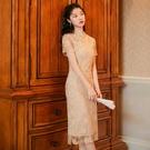 旗袍 維多利亞復古裙改良年輕款旗袍連身裙中國風少女禮服裙蕾絲民國風 寶貝計書
