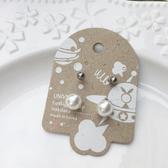 珍珠白+小鋼珠(4入)-抗敏耳環-鋼針-耳針-C8492-pipima