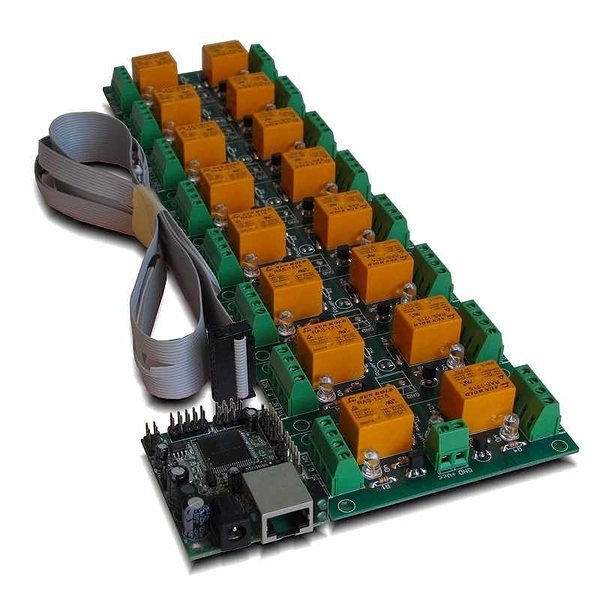 Denkovi 中繼板 12VDC 16 Channel Relay Board 12VDC: IP, SNMP, Windows/Free Android Software [2美國直購]