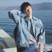 男士秋季韓版潮流修身帥氣休閒運動牛仔薄款夾克外套 YX4760『小美日記』