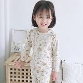 動物園居家棉感睡衣套裝 童裝 長袖上衣 長褲 睡衣