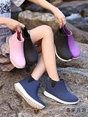 時尚外穿雨鞋女防水鞋短筒防滑廚房雨靴洗車水鞋【毒家貨源】