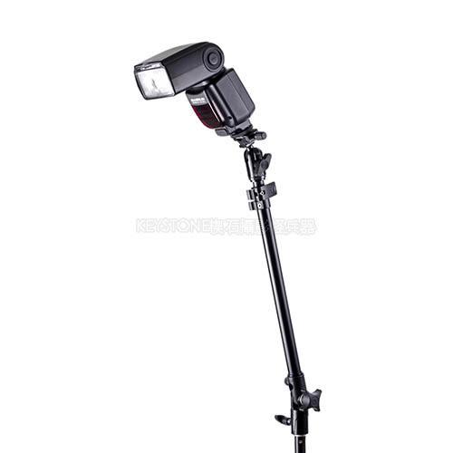 呈現攝影-多角度雙閃燈支架(外閃雙節延伸臂) 長73cm 載重2kg 八角罩 柔光罩 外接閃燈用 離機閃