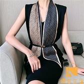 小長條窄絲巾女圍脖子裝飾長款薄圍巾方巾韓國領巾【慢客生活】