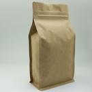 東尚公版袋KU032PZ 二磅無印口袋拉練標示牛皮紙平底袋Box Pouch+Pocket Zip=50個/盒(無氣閥)
