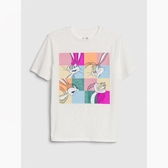 Gap男童棉質舒適圓領短袖T恤539702-白顏色
