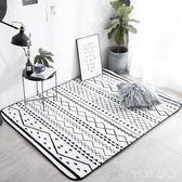風現代臥室床邊地毯加厚地墊滿鋪客廳茶幾防滑家用墊 可機洗 qz6305【viki菈菈】