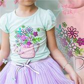 甜美風格-花朵棉質公主袖上衣-2色(270328)★水娃娃時尚童裝★