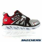 Skechers Hypno Flash 3.0 [90512LSLRD] 大童鞋 運動 休閒 透氣 舒適 魔鬼氈 銀黑
