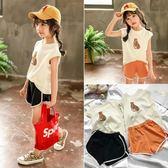 休閒裝 兒童運動套裝新款3-7歲寶寶韓版運動背心短褲兩件套女童夏裝 寶貝計畫
