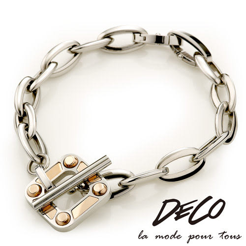 Loop 迴圈-玫瑰 白鋼手鍊-DECO