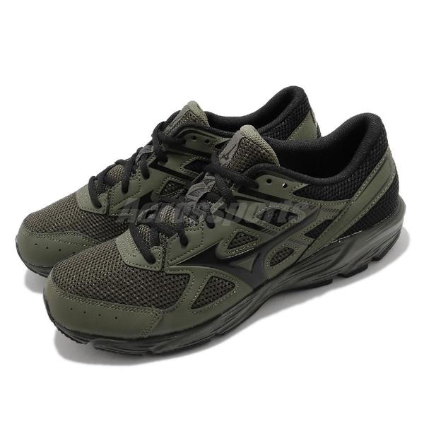 Mizuno 慢跑鞋 Maximizer 23 綠 黑 男鞋 網布 透氣輕量 美津濃【ACS】 K1GA2100-86