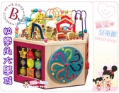 麗嬰兒童玩具館~美國B.Toys專櫃-益智玩具系列-快樂角大學城.滾珠玩具百寶箱