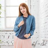 【ef-de】激安 純棉牛仔布縮口外套(藍)