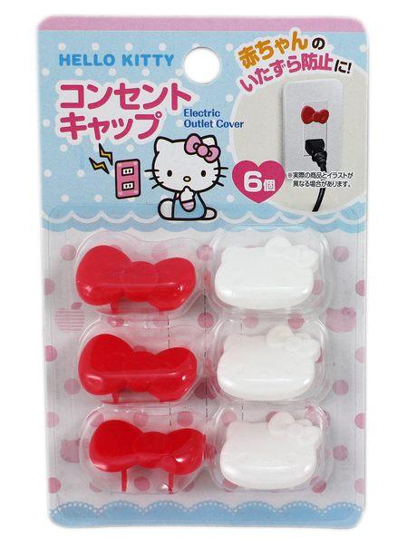 【卡漫城】 Hello Kitty 插座 蓋 6入一組 ㊣版 日版 兒童 保護蓋 防塵 造型 幼兒 居家安全 凱蒂貓