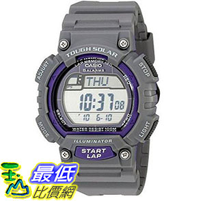 [美國直購] 手錶 Casio Mens STL-S100H-8AVCF Digital Solar-Powered Gray Stainless Steel Watch with Gray Resin Band