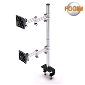[富廉網] FOGIM TKLA-6032C3 夾桌懸臂式液晶螢幕支架(雙螢幕)