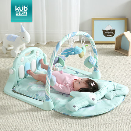 腳踏鋼琴健身架兒童腳踏鋼琴健身架0-1歲寶寶音樂遊戲毯新生兒益智玩具wy