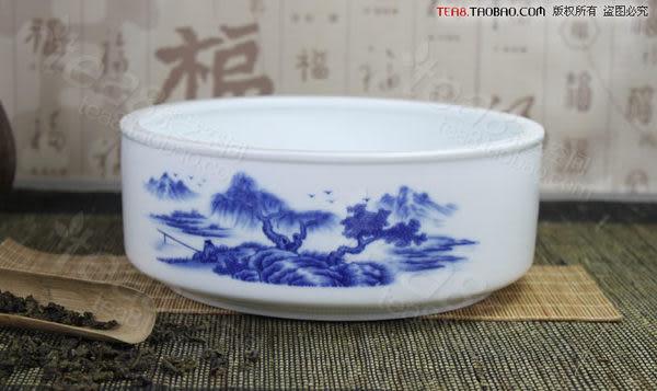 青花瓷釉下彩大茶洗 直形款 弧形款 功夫茶具
