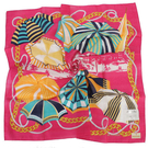 TRUSSARDI 艷陽夏日風情帕巾(桃紅)989045-27