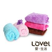 【銅板價】LOVEL 繽紛馬卡龍色系輕柔絨毛毛巾(桃果紅)