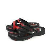 G.P (GOLD PIGEON) 阿亮代言 拖鞋 涼鞋 防水 雨天 黑色/紅色 男鞋 G7593-14 no825