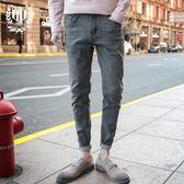 618好康鉅惠春季潮男士修身牛仔褲9分小腳韓版哈倫褲