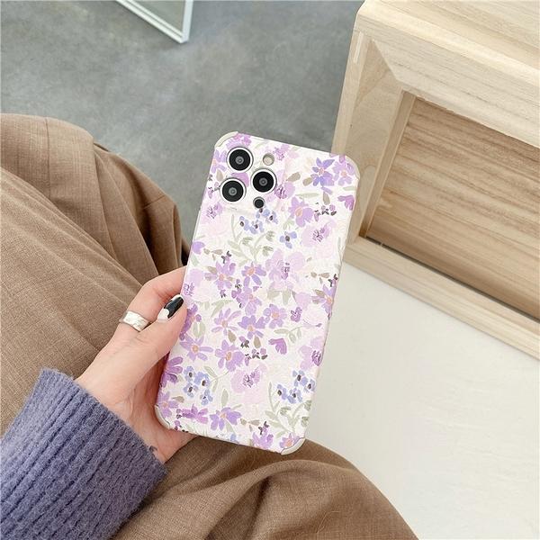 紫色薰衣草 適用 iPhone12Pro 11 Max Mini Xr X Xs 7 8 plus 蘋果手機殼