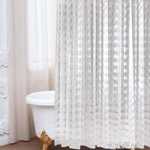 高檔浴室浴簾套裝防水加厚防黴衛生間掛簾淋浴隔斷簾子門簾免打孔 交換禮物