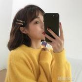 韓國時髦少女豹紋一字邊夾復古百搭醋酸發夾 劉海發飾F102  潮流衣舍