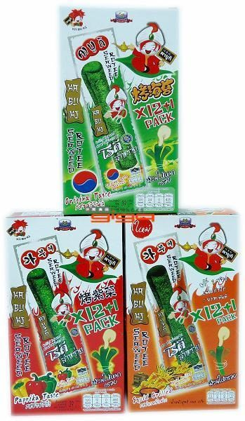 【吉嘉食品】kabuki烤海苔捲(辣味) 1盒12條,泰國進口[#12]8855444005379